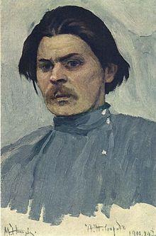 Maxim Gorki - portrait by Mikhail Nesterov