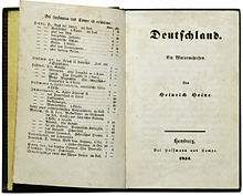 "Early edition of ""Deutschland, Ein Wintermärchen"""
