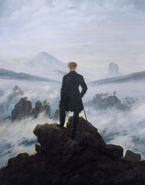 Typically Romantic - Caspar David Friedrich: The Wanderer above the Sea of Fog