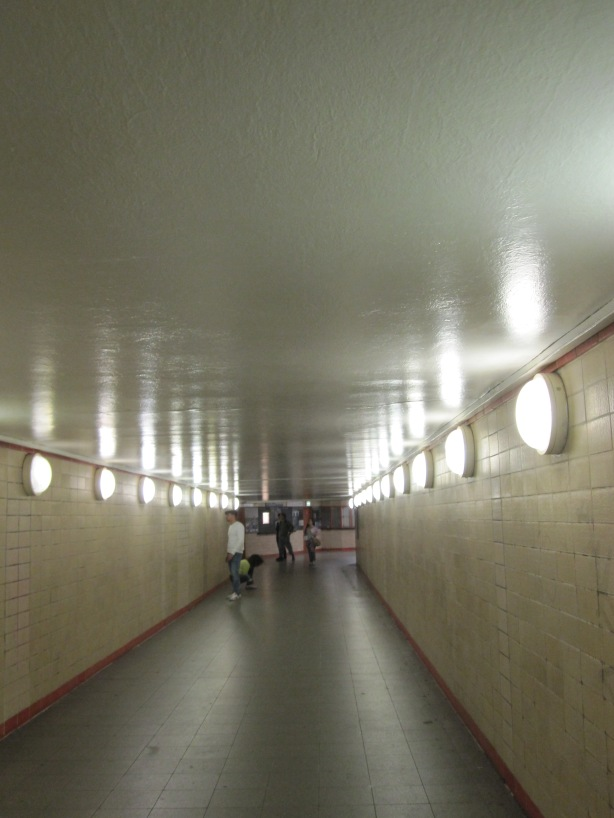 Berlin Nordbahnhof: the tunnel of a former ghost station close by the Berlin Wall