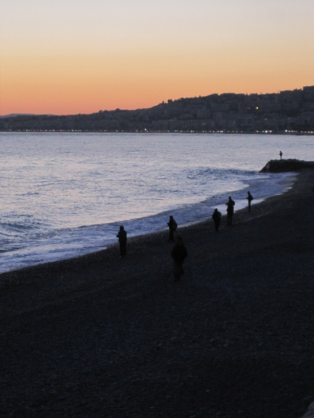 Sunset Promenade des Anglais, Nice  28 November 2013