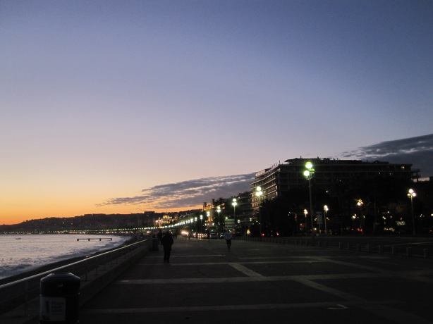 Sunset IV Promenade des Anglais, Nice 28 November 2013