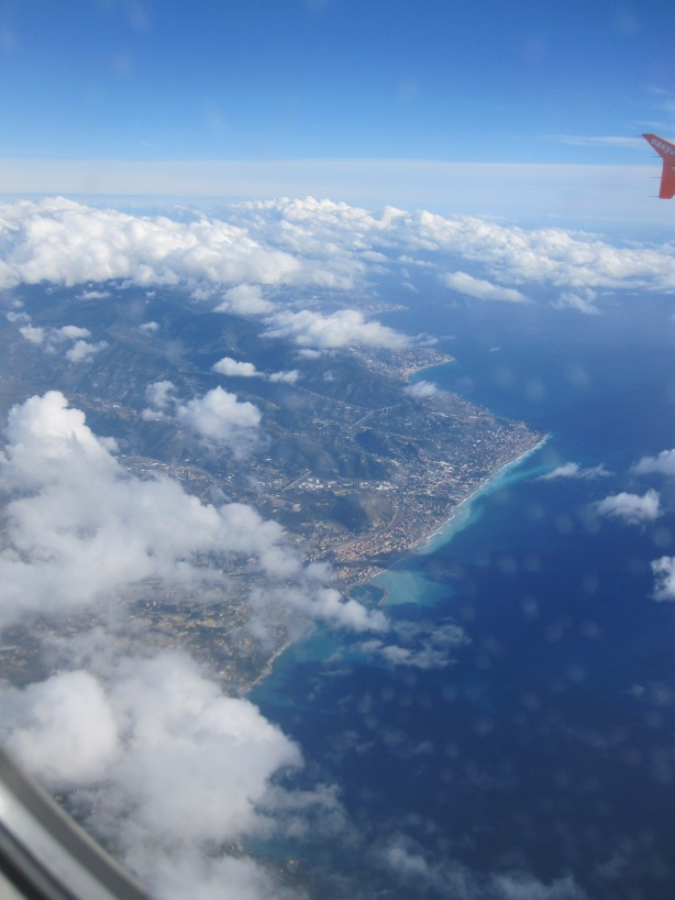 Circling to land in Nice, November 2013