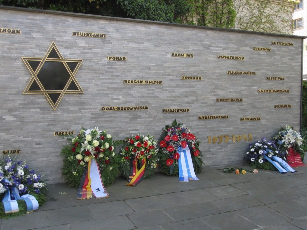 Wall of remembrance, Synagogue Fasanenstrasse Berlin 28 April 2014