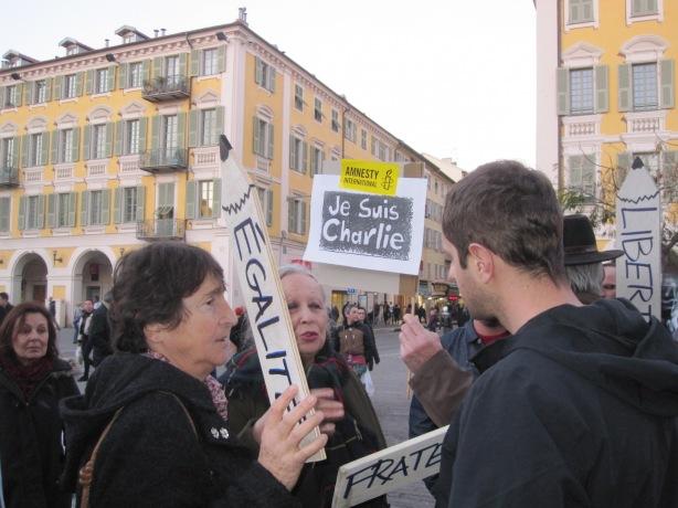 'Espace Charlie', Place Garibaldi, Nice 10 January 2015