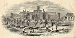 Reading Gaol, 1844. Engraving by Charles Thomas Wooldridge