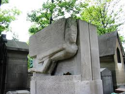 Wilde's tomb in Père Lachaise cemetery, Paris