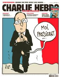 Cover of satirical weekly, Charly Hebdo, January 2014