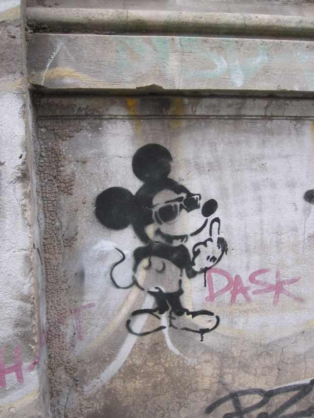 Mickey against gentrification - Berlin-Prenzlauer Berg March 2015