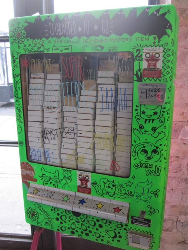 Carolina's Cruz's Art-O-Mat dispenser offers original mystery drawings for the cost of a few coins.