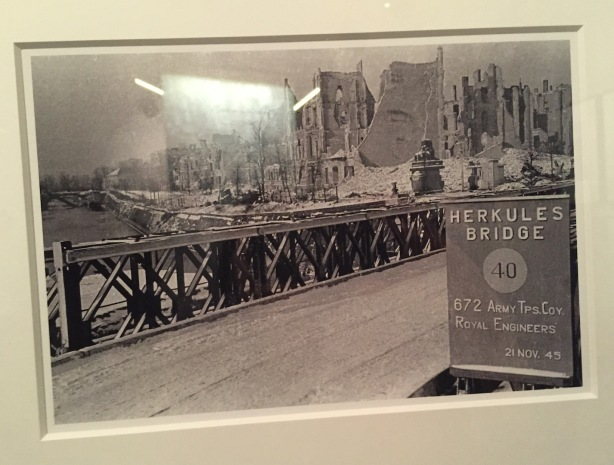 Rebuilt Herkules Bridge in Charlottenburg - one of the Royal Engineer reconstruction projects.