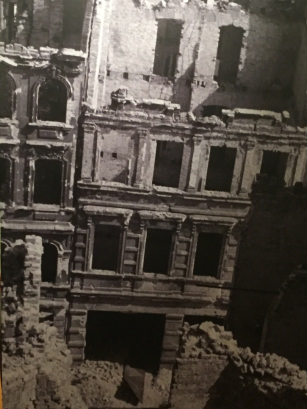 Aftermath of bombings and ground battles: Newman documented ruined buildings all over Berlin, particularly in the devastated city centre.