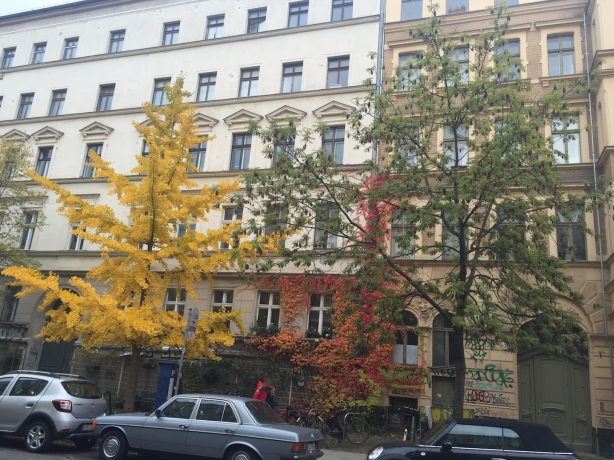 Autumn in an East Berlin street