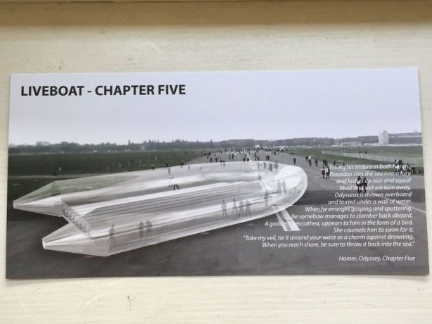 Liveboat installation at Tempelhof Park Berlin, June 2015