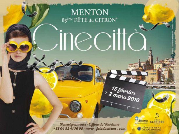 Official poster - Fête du citron Menton 2016