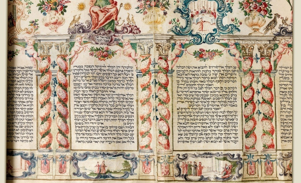 Purim scroll, Northern Italy, 18th century.