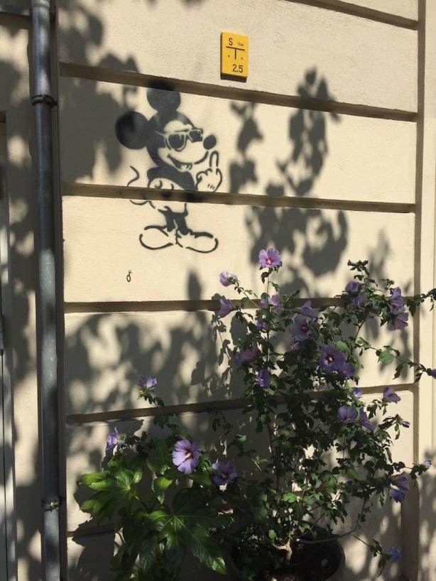 Mickey against gentrification, Berlin-Prenzlauer Berg 2015